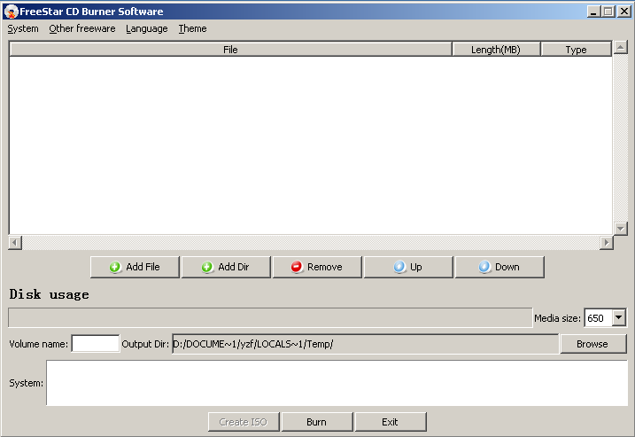 free CD Burner software screenshot 2