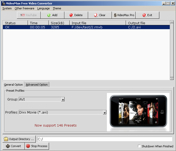 Click to view FreeStar Free Video Converter screenshots