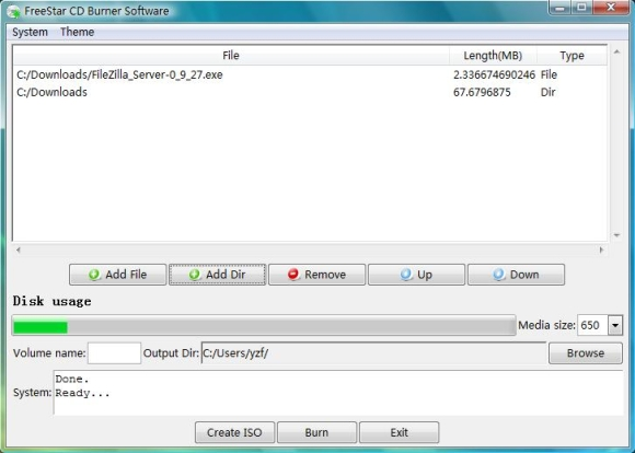 Click to view FreeStar CD Burner Software screenshots