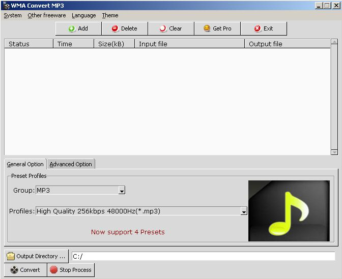 Windows 7 Free WMA Convert MP3 Freeware 1.0.5 full
